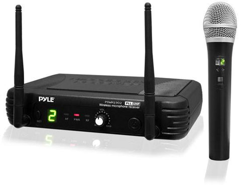 Pyle Pdwm1902 Premier Series Uhf Wireless Handheld Microphone System With Selectable Frequencies