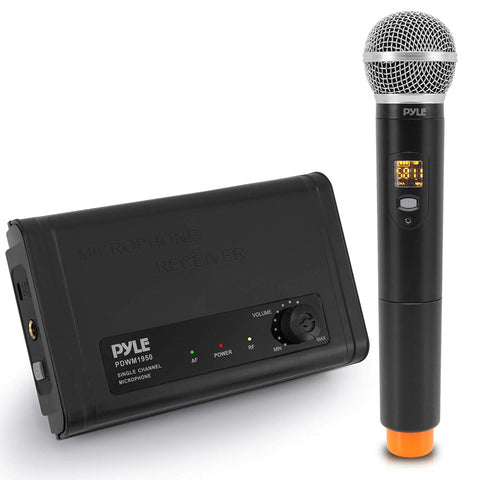 PYLE PDWM1950 Compact UHF Wireless Microphone System