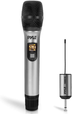 Pyle PDWMU105 UHF Wireless Microphone Adapter System with rechargeable Receiver