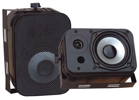 Pyle Pdwr40B 5.25 Indoor/outdoor Waterproof Speakers - Black Colour Bookshelf