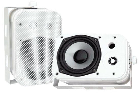 Pyle Pdwr40W 5.25 Indoor/outdoor Waterproof Speakers - White Colour Bookshelf