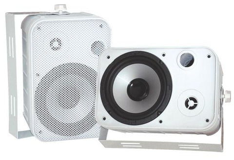"Pyle (PDWR50W) 6.5"" Indoor/Outdoor Waterproof Speakers (White) - expert island"