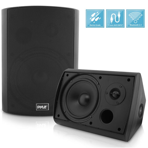 "PYLE PDWR62BTBK 6.5"" Bluetooth Indoor / Outdoor Waterproof Wall Mount Speakers - Pair"