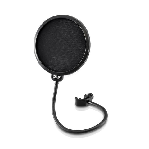 Pylepro Pepf30 Studio Microphone Pop Filter 4-Layer Mesh Screen Wind Filtration 360° Flexible
