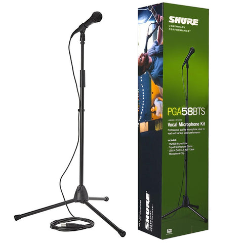 Shure Pga58Bts Vocal Microphone Kit With Stand & Cable