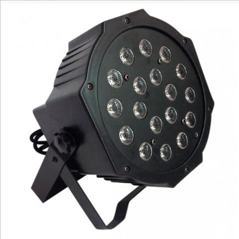 18 Watt Flat Par Can Light 18 LED Lights RGB Colour Mixing 7 Channel DMX512 Disco DJ Stage