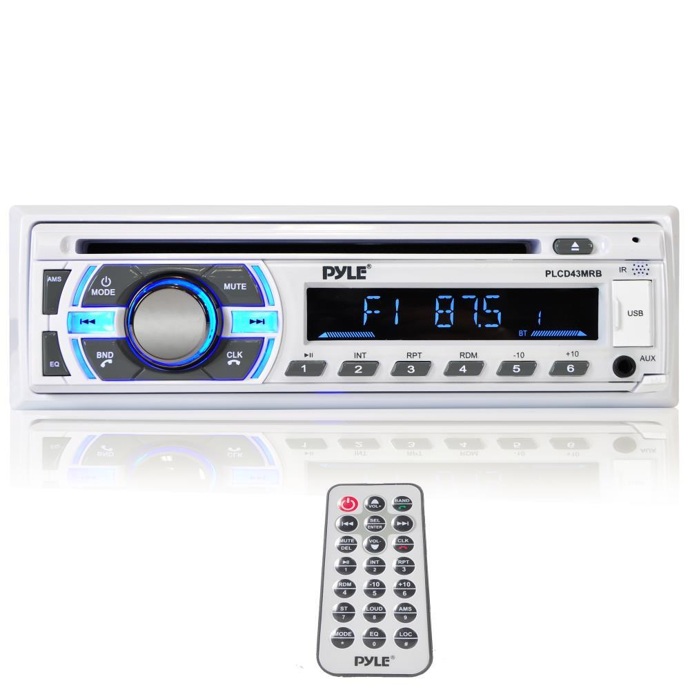 PYLE PLCD43MRB Bluetooth Marine Stereo CD Player, Hands-Free Call Answer,  USB/MP3/SD/AUX
