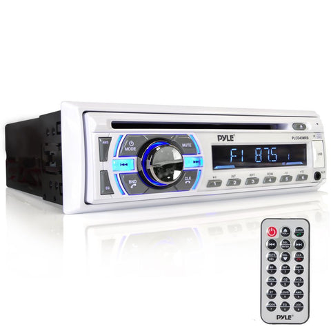 Pyle Plcd43Mrb Bluetooth Marine Stereo Cd Player Hands-Free Call Answer Usb/mp3/sd/aux In-Dash