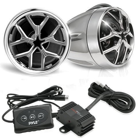 Pyle Plmca51Bt 1400 Watt Bluetooth Weatherproof Speaker And Amplifier System For