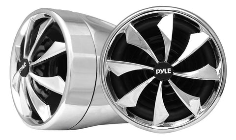 "Pyle (PLMCS92) 800 Watt 3"" Speaker w/ Dual Handle-Bar Mounts - Weatherproof, Aluminum Die-Cast for Motorcycle, ATV & Snowmobile (Pair) - expert island"