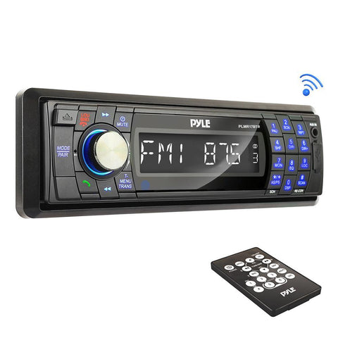 Pyle Plmr17Btb Am/fm-Mpx In-Dash Marine Detachable Face Radio W/sd/mmc/usb Player & Bluetooth