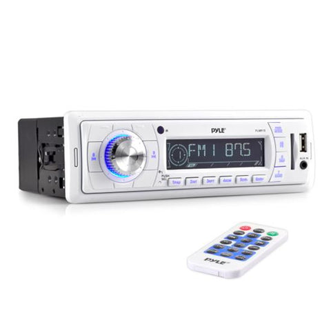Pyle Plmr18 Stereo Radio Headunit Receiver Aux Input Usb Flash & Sd Card Readers Remote Control