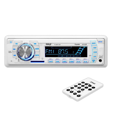 PYLE (PLMR19W) Stereo Radio Headunit Receiver, Aux (3.5mm) MP3 Input, USB Flash & SD Card Readers, Remote Control, Weatherband - expert island