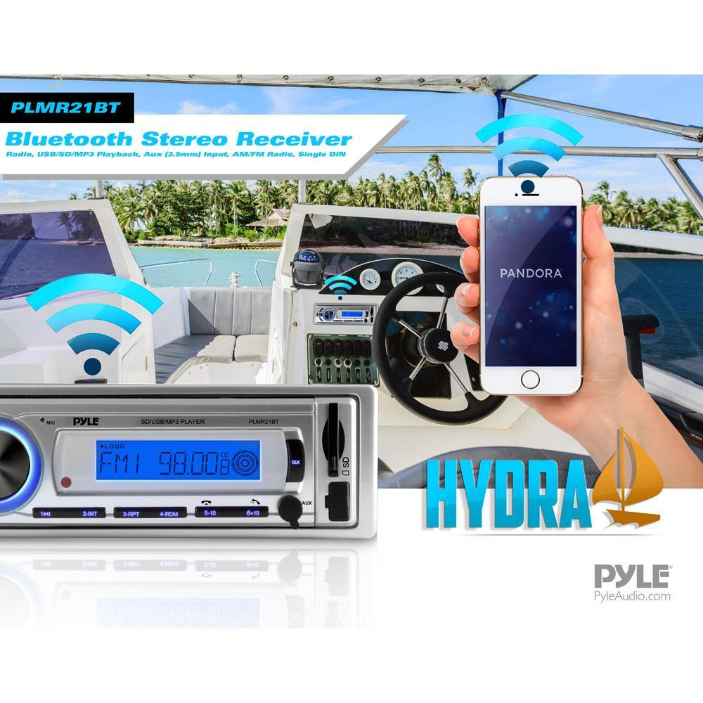 Pyle Plmr21bt Hydra Bluetooth Stereo Receiver Headunit
