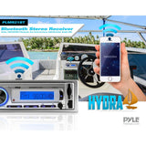 Pyle PLMR21BT Hydra Bluetooth Stereo Radio In-Dash Headunit, USB/SD/MP3 AM/FM Radio, Single DIN, Remote Control - expert island