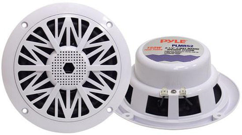 Pyle (PLMR52) 150 Watts 5.25'' 2 Way White Marine Speakers - expert island