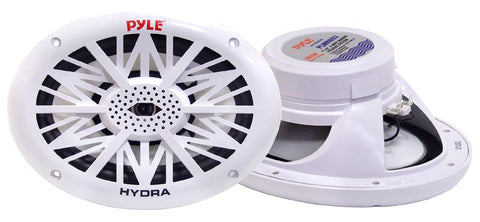 Pyle (PLMR692) 260 Watts 6'' x 9'' 2 Way White Marine Speakers - expert island