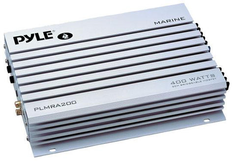 Pyle (PLMRA200) 2 Channel 400 Watt Bridgeable Waterproof Marine Amplifier - expert island