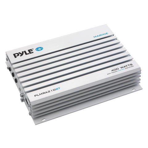 Pyle Plmra210Bt Elite Series Waterproof Bluetooth Amplifier Bridgeable 400 Watt 2-Channel Amp Marine