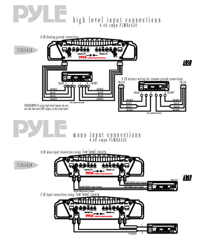 pyle plmra400 amp wiring diagram for pyle pldnv695 pyle amplifier rh goldxchange co