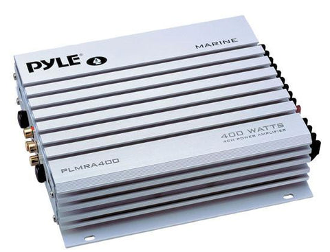 Pyle (PLMRA400) 4 Channel 400 Watt Waterproof Marine Amplifier - expert island
