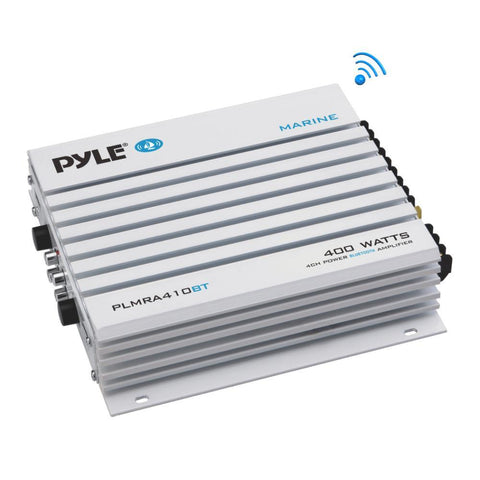 Pyle Plmra410Bt Elite Series Waterproof Bluetooth 400 Watt 4-Channel Amplifier Marine
