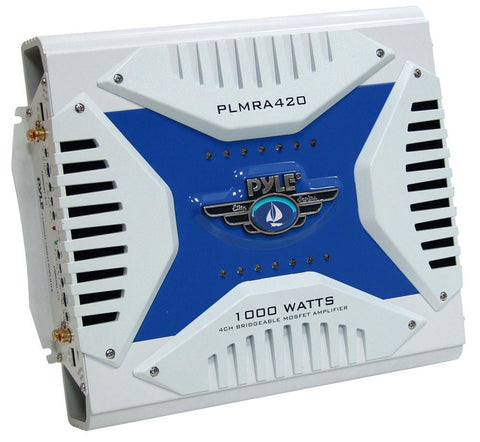 Pyle (PLMRA420) Elite Series Waterproof Amplifier, Bridgeable 1000 Watt 4-Channel Amp - expert island