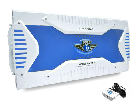 PYLE (PLMRA820) Elite Series Waterproof Amplifier, Bridgeable 3000 Watt 8-Channel Amp - expert island