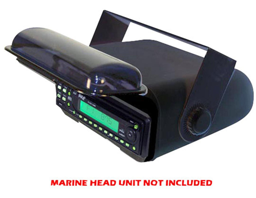 PYLE PLMRCB3 Universal Marine Stereo Housing w/Full Chassis Wired Casing  -Black