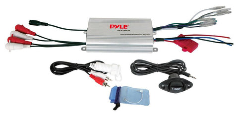 Pyle (PLMRMP3A) 4 Channel Waterproof MP3/ Ipod Marine Power Amplifier - expert island