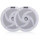 Pyle Plmrs5Wl Waterproof Marine Low-Profile Slim Style Speaker 5.25-Inch (180 Watt) (Pair) Speakers
