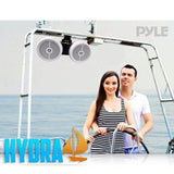 Pyle Plmrwb652Lew 6.5 Dual Marine Wakeboard / Tower Speakers Built-In Programmable Multi-Color Led