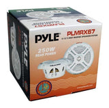 Pyle Plmrx67 Hydra 250 Watts 6.5 2-Way Marine Speakers (Pair) White
