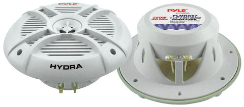 Pyle (PLMRX67) HYDRA 250 Watts 6.5'' 2 Way Marine Speakers (Pair) - expert island