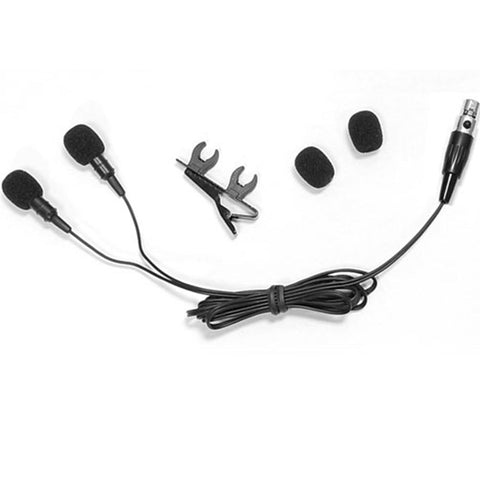 Pyle Plms48 Dual Condenser Cardioid Lavalier Microphone - For Shure System