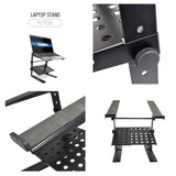 Pyle Plpts30 Laptop Computer Stand For Dj With Flat Bottom Legs Stands & Mounts