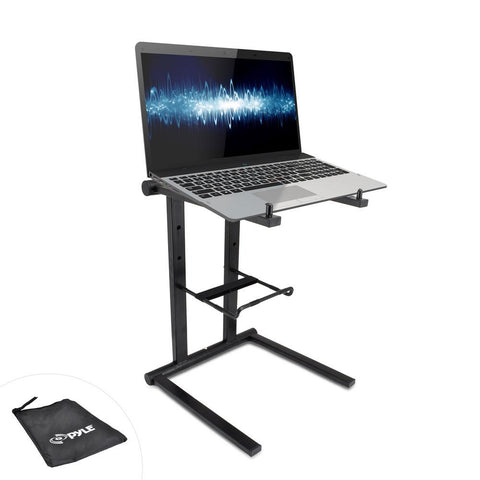 Pyle (PLPTS35) Universal Portable Foldable Professional DJ Laptop Stand with Second Accessory Tray - expert island