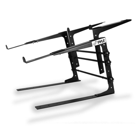 Pyle Plpts38 Universal Dual Device Laptop Stand Sound Equipment Dj Mixing Workstation Stands &