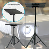 PYLE PLPTS3 Universal Laptop DJ Equipment Studio Stand, Height Adjustable