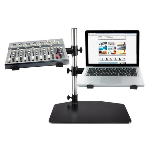 Pyle (PLPTS45) Laptop, Mixer & Studio Equipment Stand Holder Tabletop Mount - expert island