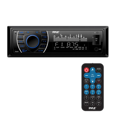 Pyle Plrmr27Btb/plrmr23Btw Bluetooth Marine Receiver Stereo Hands-Free Calling Wireless Streaming
