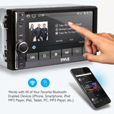 "Pyle PLRUB69 6.5"" Touch Screen Stereo Radio Receiver, Bluetooth Streaming, Hands-Free Call Answering"