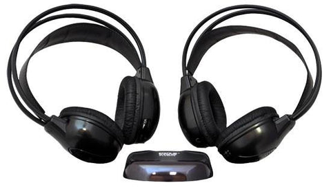 Pyle (PLVWH6) Dual Wireless IR Mobile Video Stereo Headphones w/Transmitter - expert island