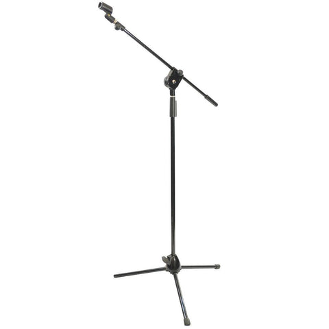 PYLE PMKS3 Tripod Microphone Stand w/ Height Adjustable Mount & Extending Boom Mic Arm - expert island