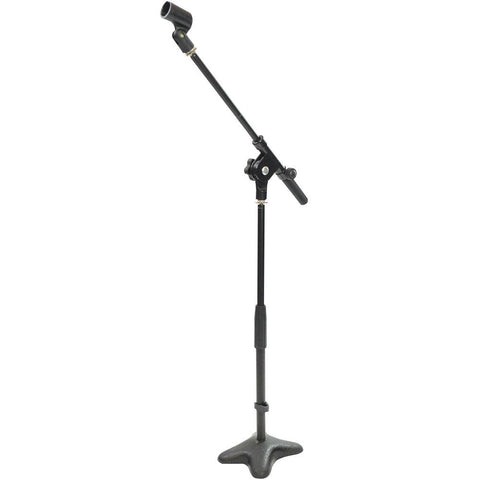 Pyle Pmks7 Universal Compact Microphone Stand Mic Mount Holder Height & Boom Extension Adjustable