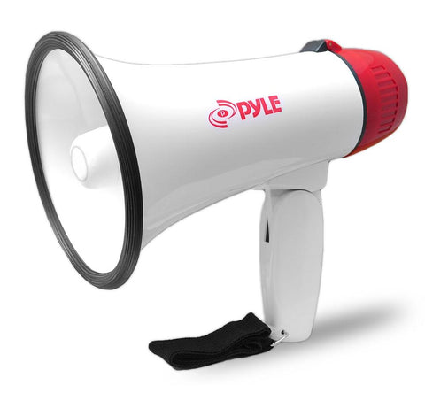 Pyle Pmp20 Compact Megaphone Battery Operated Siren Alarm And Volume Control