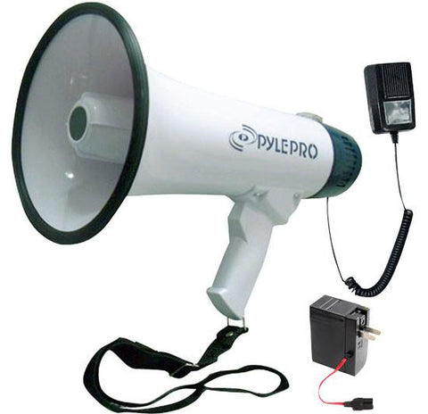 Pyle Pmp45R Professional Dynamic Megaphone With Recording Function/detachable Microphone &