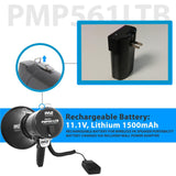 Pyle Pmp561Ltb 50 Watt Megaphone Rechargeable Battery W/ledlight