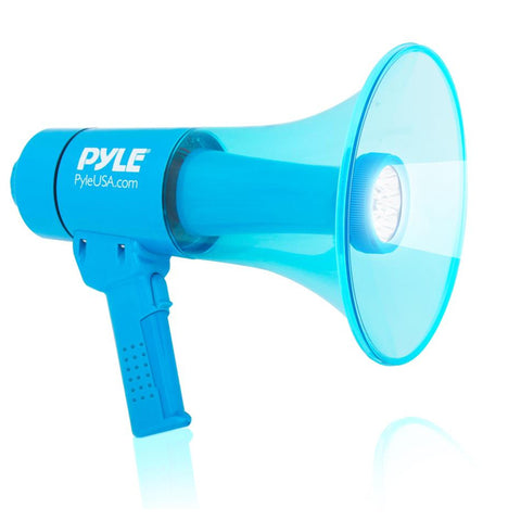 Pyle Pmp66Wlt Waterproof 40 Watt Megaphone W/ Built-In Led Light