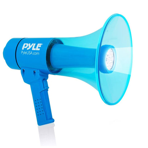 Pyle Pmp67Wltb Waterproof 40 Watt Megaphone W/ Built-In Rechargeable Battery And Led Light